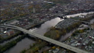 Watervliet And Cohoes - Aerial View - New York,  Albany County,  United States video