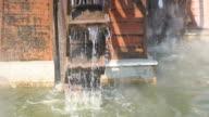 Waterwheel turbine video