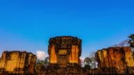 Watsrakhampangyai historical park in Srisaket Thailand video