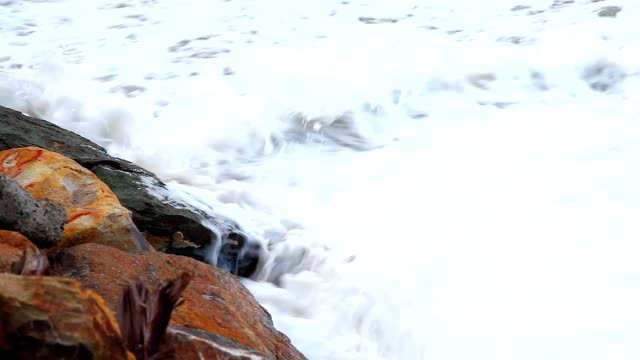 Wave Crushing the Rock Slow Motion video