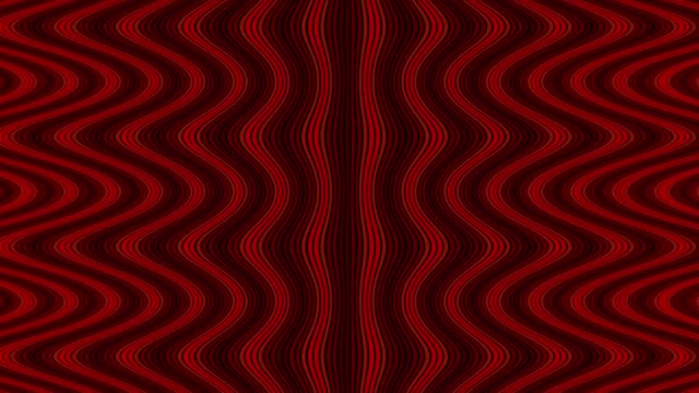 Wave flow digital pattern, rotating optical illusion, red color animated video background video
