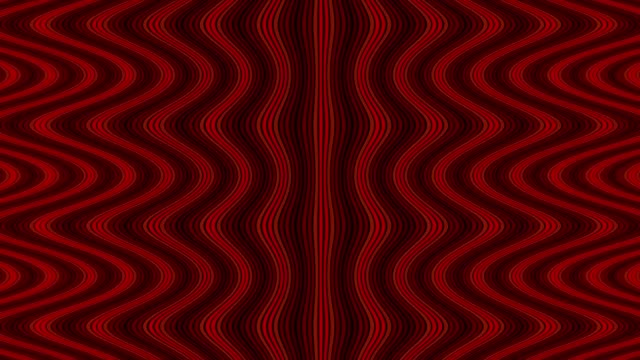Wave flow digital pattern, zig zag optical illusion, red color animated video background video