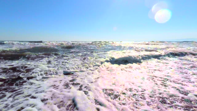 Wave on the beach -4K- video