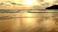 wave sea in ocean video