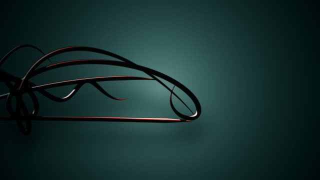 waved organic lines on gradient background, black colour and steel style video