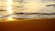 Waves at beach in the evening video