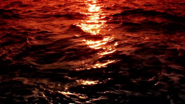 Waves at Sunset video