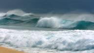 Waves break at Pipeline, North Shore, Oahu, Hawaii video
