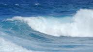 Waves breaking on the open sea video