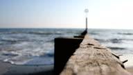 Waves crash on Beach Groyne video