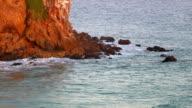 Waves crashing on rocks, Southern California video