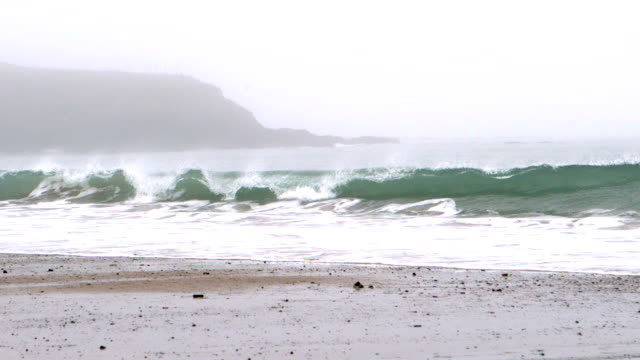 Waves crashing on the beach video