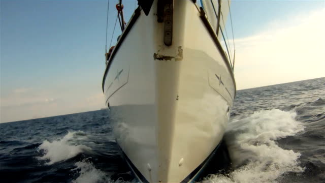 Waves from ship cutwater video