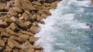 Waves hitting the coast video