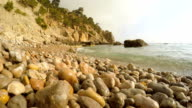 Waves of the sea in the summer,in the Crimea video