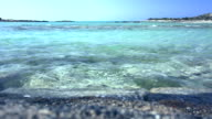 Waves on a Elafonissi Beach, Crete, Greece. video
