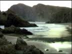 Waves on cove in Maruata Michoacan Mexico video