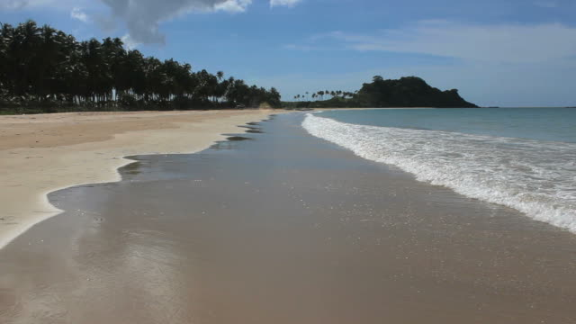 Waves on Idyllic Beach With Turquoise Water And White Sand video