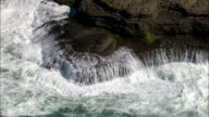 Waves on rocks - Aerial View - Aquitaine, France video