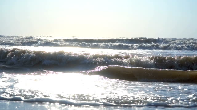 waves on the sea and beach video