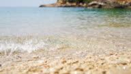 HD SUPER SLOW MO: Waves Splashing Pebble Beach video