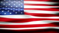 Waving American flag video