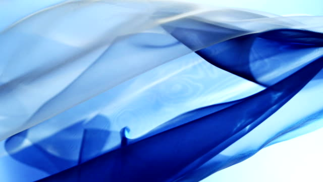 Waving blue and white silk video