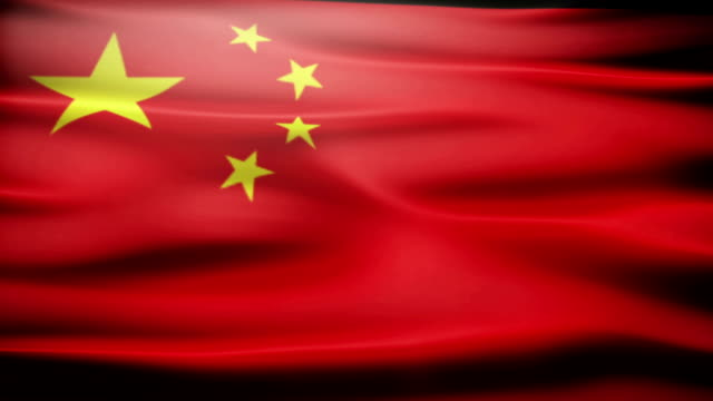 Waving Chinese flag video