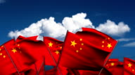 Waving Chinese Flags video