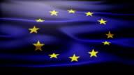 Waving European Union flag video