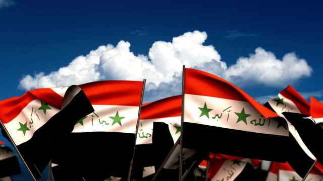 Waving Iraqi Flags video