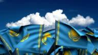 Waving Kazakh Flags video