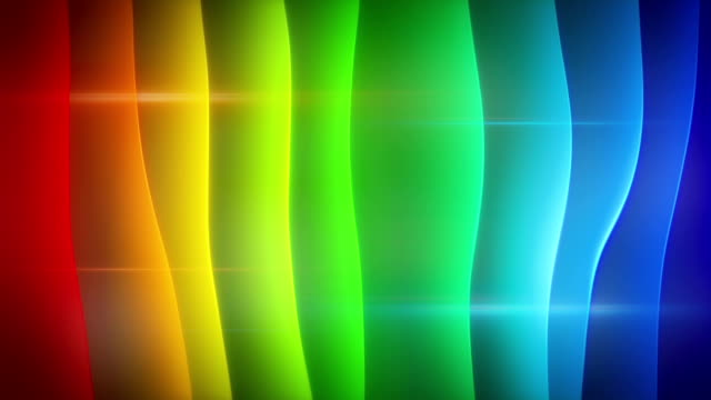 waving multicolor curves loopable background video