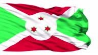 Waving national flag of Burundi video