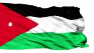 Waving national flag of Jordan video