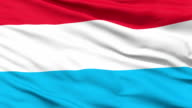 Waving national flag of Luxembourg video