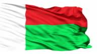 Waving national flag of Madagascar video