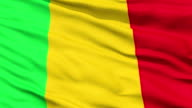 Waving national flag of Mali video