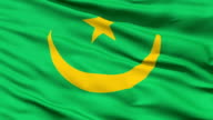 Waving national flag of Mauritania video