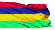 Waving national flag of Mauritius video