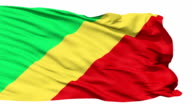 Waving national flag of Republic of Congo video