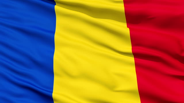 Waving national flag of Romania video