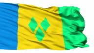 Waving national flag of Saint Vincent Grenadines video