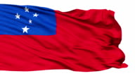 Waving national flag of Samoa video