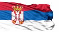 Waving national flag of Serbia video