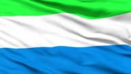 Waving national flag of Sierra Leone video