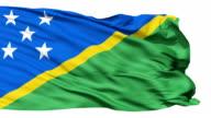 Waving national flag of Solomon Islands video