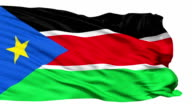 Waving national flag of South Sudan video