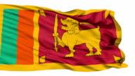 Waving national flag of Sri Lanka video