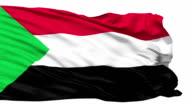 Waving national flag of Sudan video